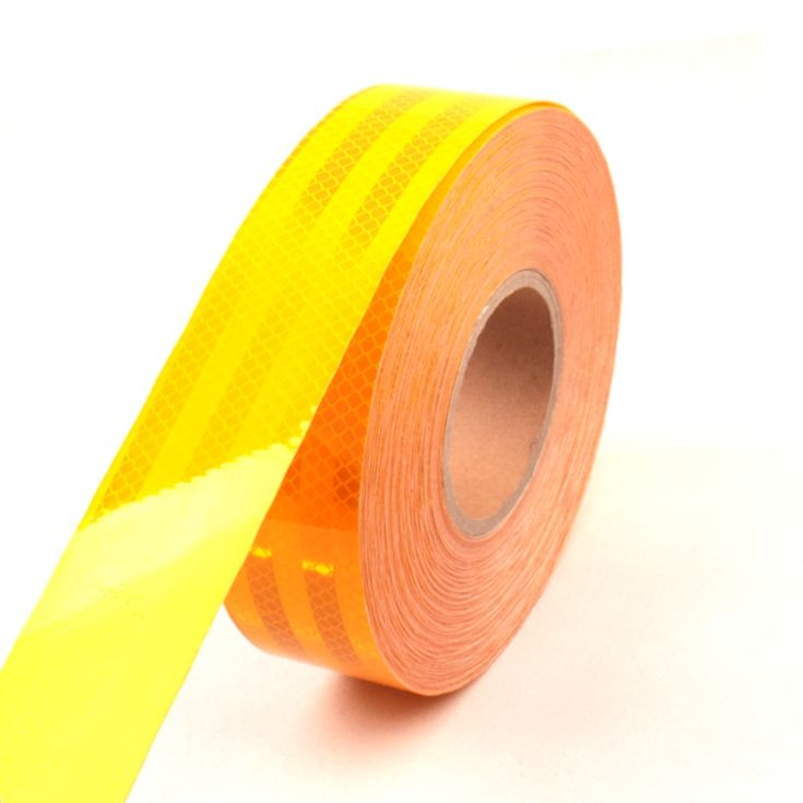 High visibility 3M ece 104r 00821 reflective reflector tape stripe stickers in roll with self adhesive for vehicle trailer truck
