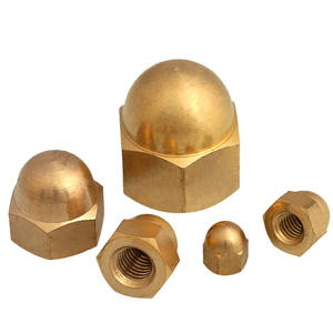 Manufacturers wholesale DIN 1587 M12 hexagonal dome nut brass decorative nut