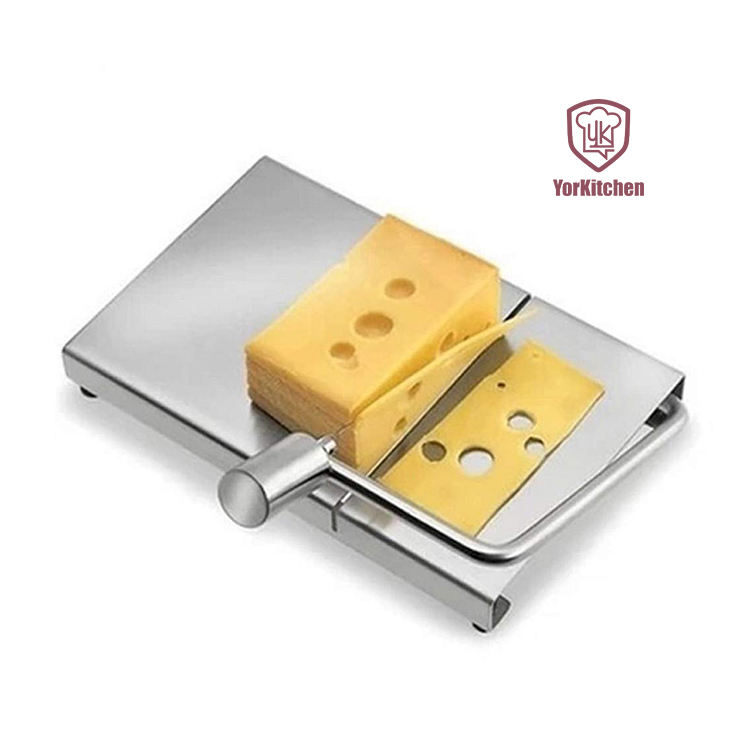 Stainless Steel Cheese and Food Slicer with Board