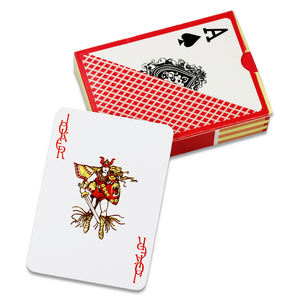 2018 New products custom paper printed pvc poker card plastic playing card