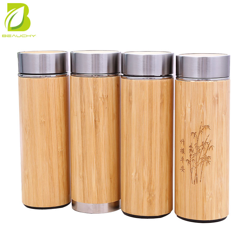 Feast bamboo water bottle eco friendly type with laser engraving logo
