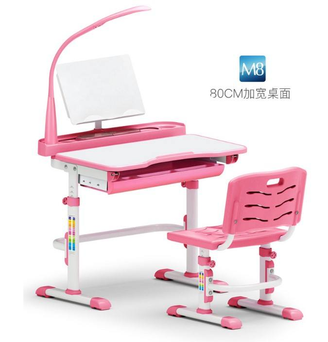 Adjustable Kids Study Table And Chair Ergonomic Design children writing desk at home