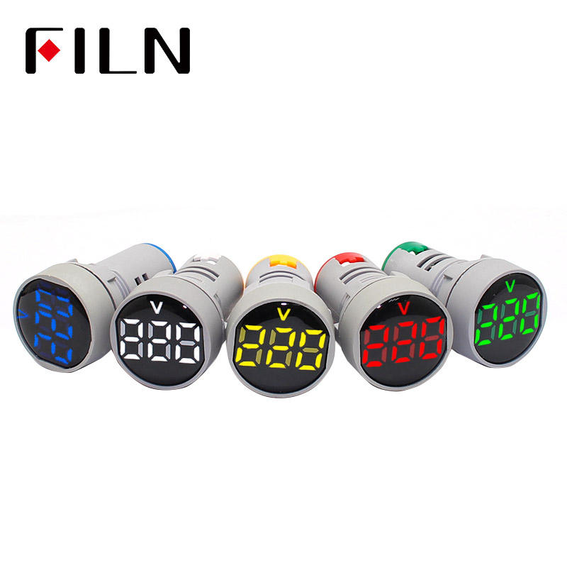 FILN 22mm LED Display AC 20-500V Digital Voltmeter Digit voltage meter AD16-22 Indicator Light Panel display Red Yellow Green