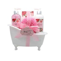 Wholesale Bath Sets Bath Gift Sets Spa Natural with  White Bathtub