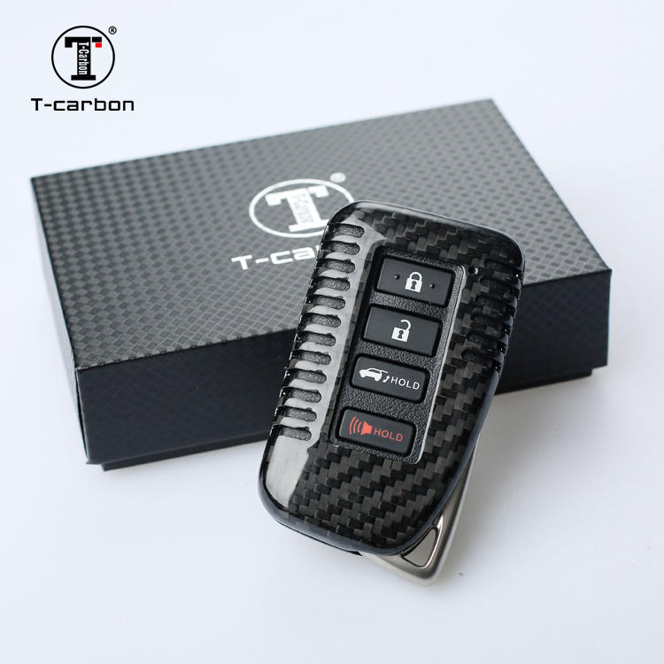 T-carbon hot quality carbon Fiber car Key Case factory For LEXUS