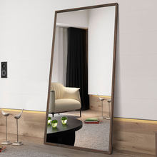 Home decor full length wall mirrro large wood framed bedroom rectangle standing dressing mirror