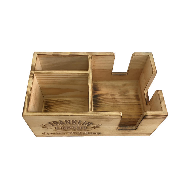 wooden bar caddy bar organizer
