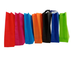 Estoque Por Atacado logotipo personalizado eco Recycle non woven shopping bag