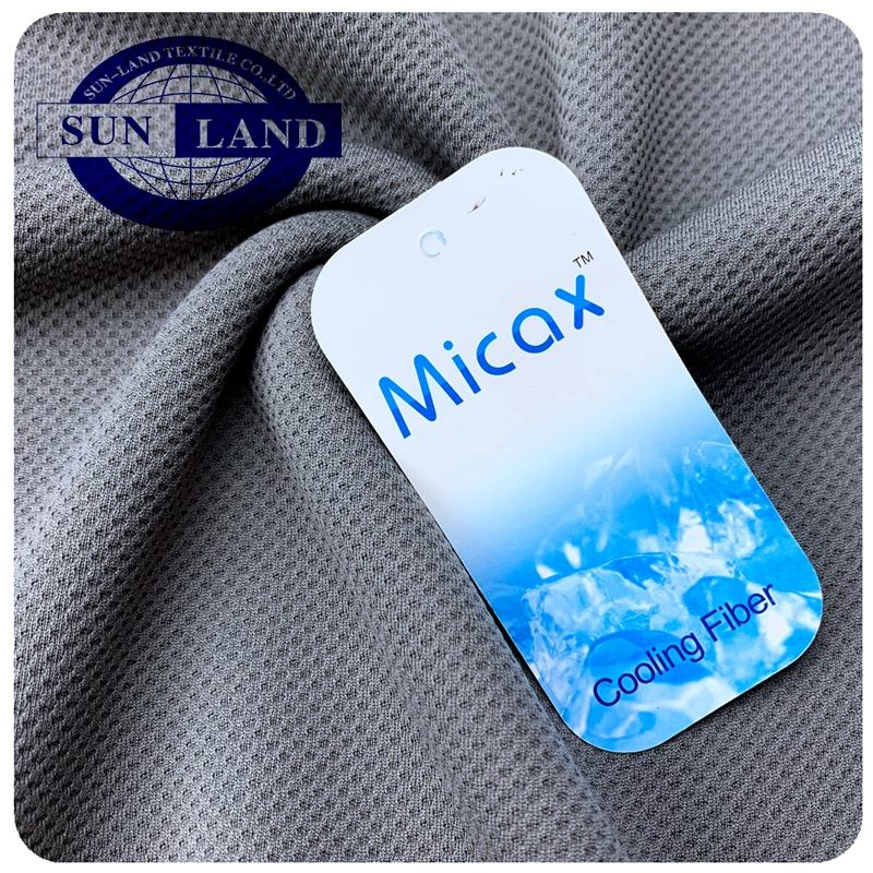 summer cool towel hot sale sports shirt clothing 100% micax polyester function yarn forever last cooling fabric