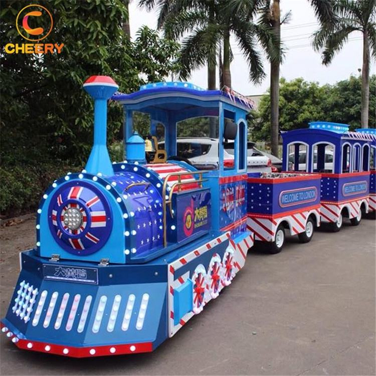 Cheap prices shopping mall indoor amusement children games electric trackless train ride