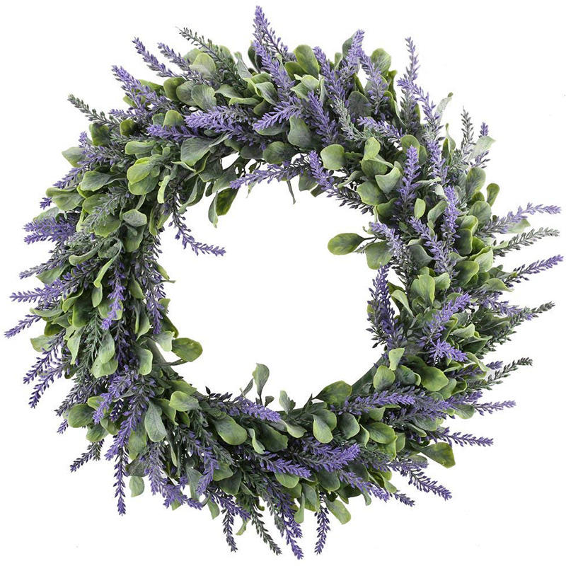 Hot Sale Preserved Everlasting Purple Flower Wreath, Crown Wreath Round Artificial Flower Wreath For Front Door Home Decor