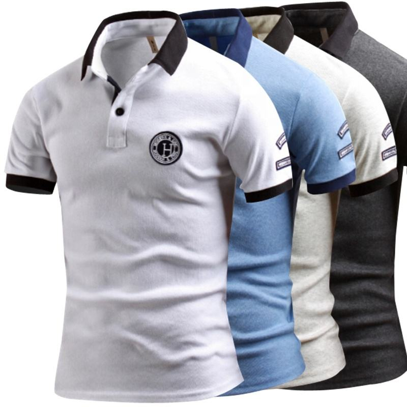 2019 fashion custom polo shirt man's clothing short sleeve tops cotton t shirt for men polo