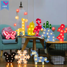 Cactus Pineapple  Unicorn shaped Desk Decoration Marquee Led Night Light Led Motif Light Christmas Decor Motif LED lamp