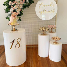 Wedding Cylinder Stand Dessert Table White Display Round Plinths