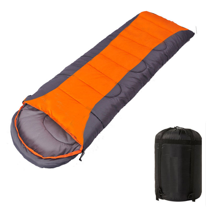 Thickening Outdoor Camping Sleeping Bag in Winter Orange Grey Blue Grey Coloured Sleeping Bag Driving Camping Sleeping Bag