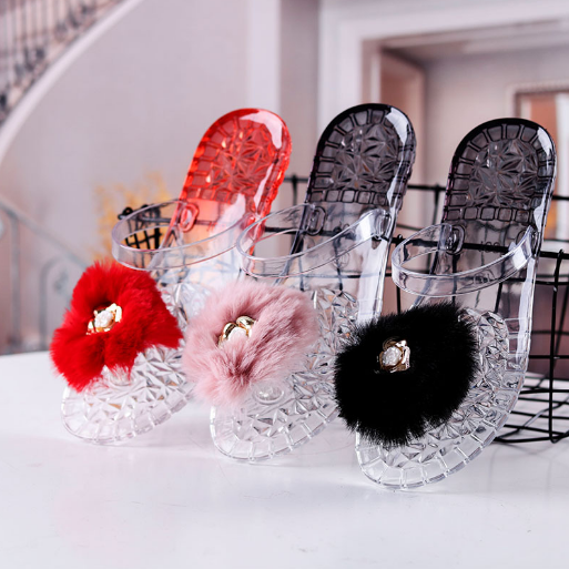 Women Transparent Slippers Cute flowers Summer Casual Beach Slides Fashion Jelly Shoes Slip On Bathroom Slipper