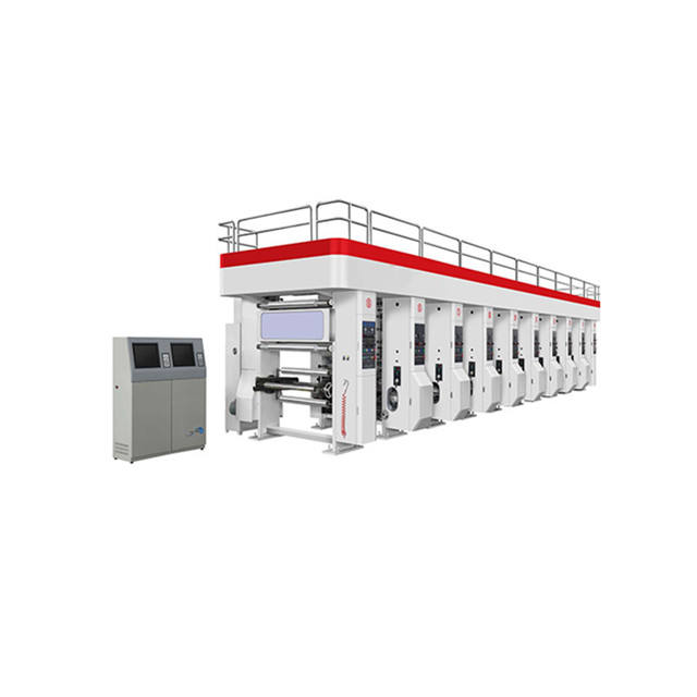 Computer Rail Gravure Printing Machine for Plastic Printing