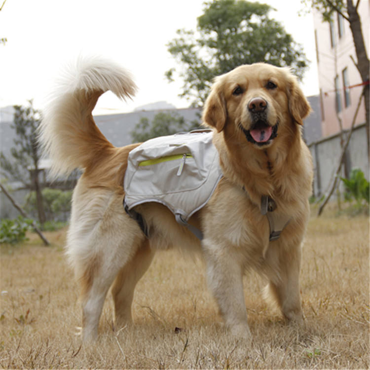 Canvas Dog Saddle Backpack for Traveling Hiking Camping Adjustable reflective white dog hunting vest,dog training vest