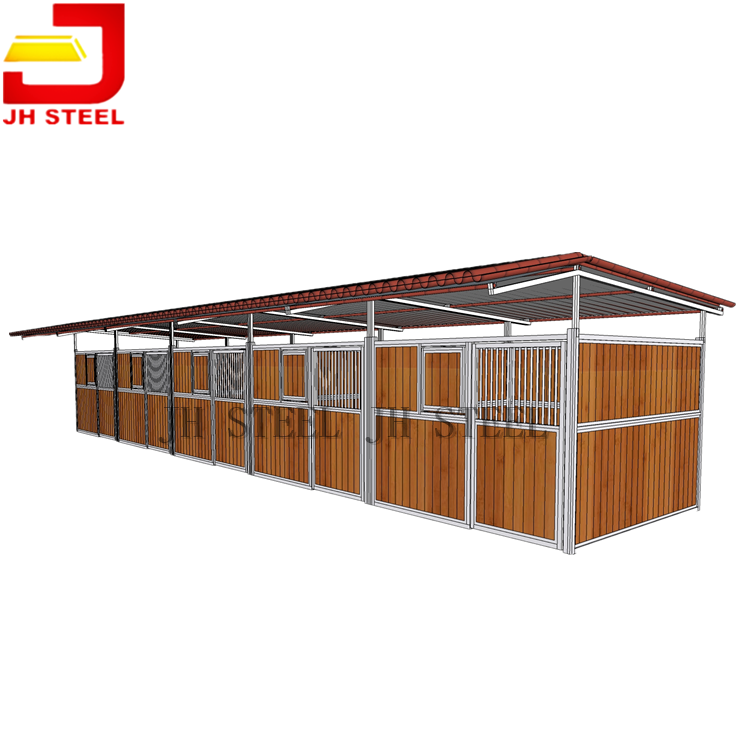 Hot Dip Galvanized galvanised steel Internal Horse Stable Stall With Steel Frame