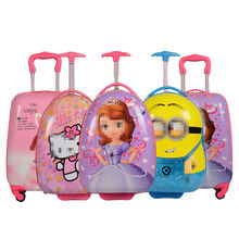 2020  Wholesale 3D Cartoon Trolley School backpack with wheels Child