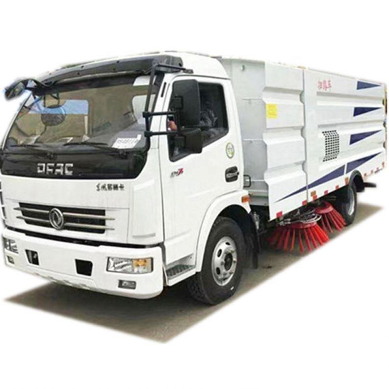 small size road sweeper truck with 6m3 garbage bin volume supply by fullwon