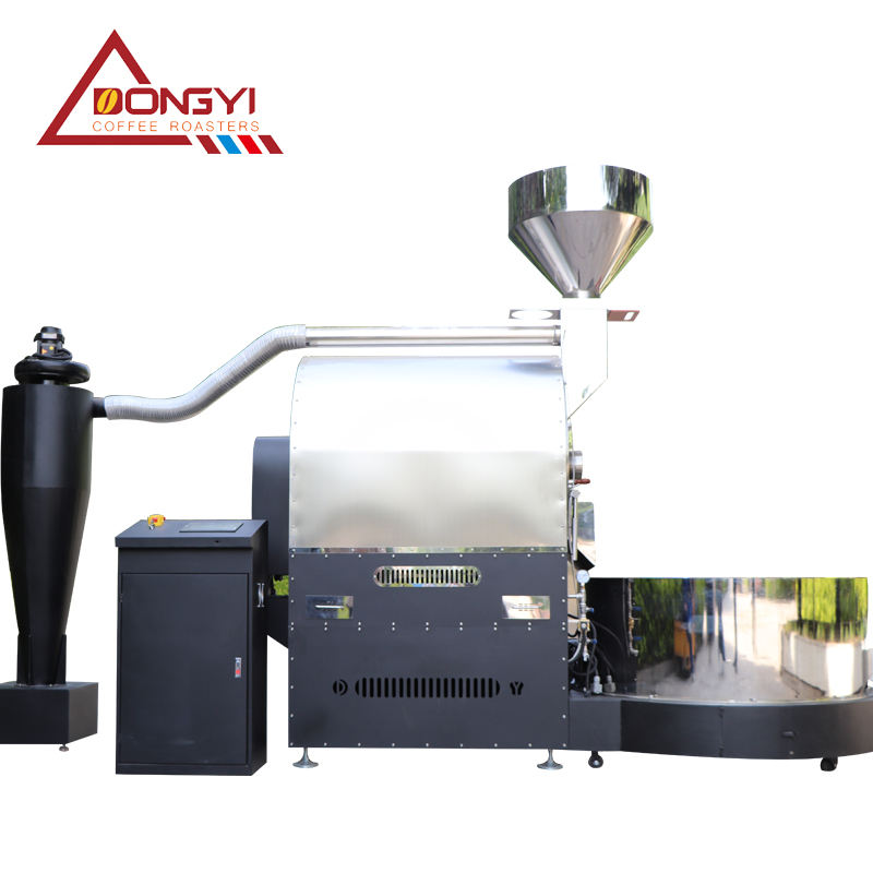 Automatic 60 kg coffee roaster dongyi manufacturers industrial coffee bean roaster with cooling tray boca boca coffee bean roast
