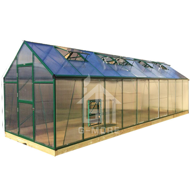 Metal Polycarbonate Commercial Used Greenhouse Sale