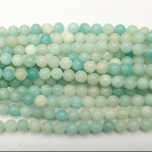 Wholesale Light Blue Color Natural Stone Amazonite Loose Beads Gemstone Spacer DIY Jewelry Accessories