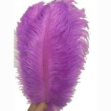 10-12 inches Ostrich Feather Real Natural Feather for Home Decor Party Wedding Decorations (Lavender)