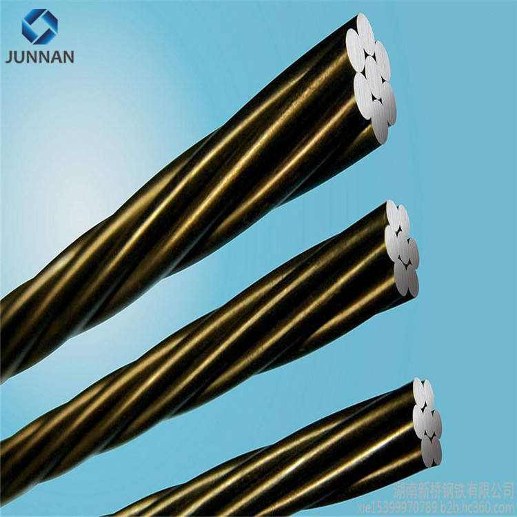 ASTM 416 /A416M 1* 7 wire Low Relaxation high tension 12.7mm 15.24mm PC Steel wire Strand with DCL certificate