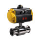 COVNA 4 inch Double Acting Pneumatic Actuator Air Remote Control Ball Valve