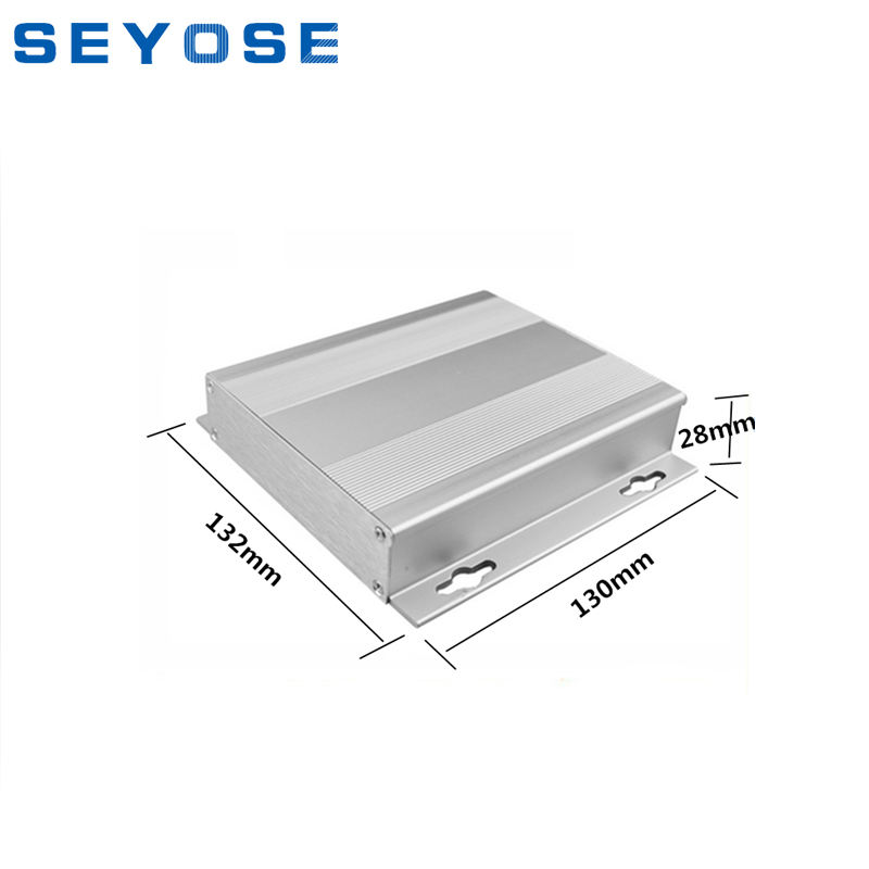 PNAY-17 heat sink surface junction cases aluminum enclosure instrument box for communicated electronics 130x132x28mm