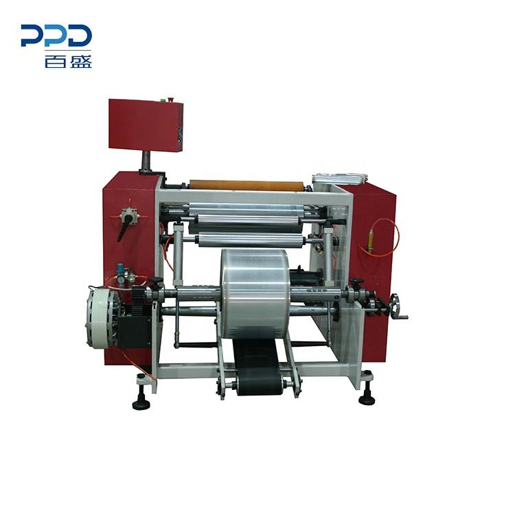 Low price rewinder for aluminium foil stretch film product roll