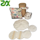 Bamboo Reusable Makeup Remover Pads with Cotton Laundry Bag with Plastic Free Packaging Oil Free Make up Remover Wipe