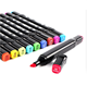 12 Machine Washable & Fade Resistant Dual TIP Fabric Markers