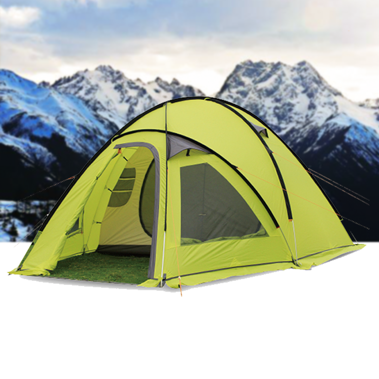 5 Person Polyester Cold Weather Winter Mountain Camping Snow Tent