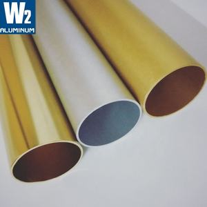 6063 T5 T6 Red Black Pink Green Gold Blue White Brown Color Anodizing Aluminum Pipe With Polishing