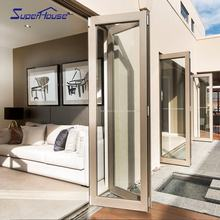 Australia As2047 As2208 standard commercial system aluminum bi-folding door with 10 years warranty