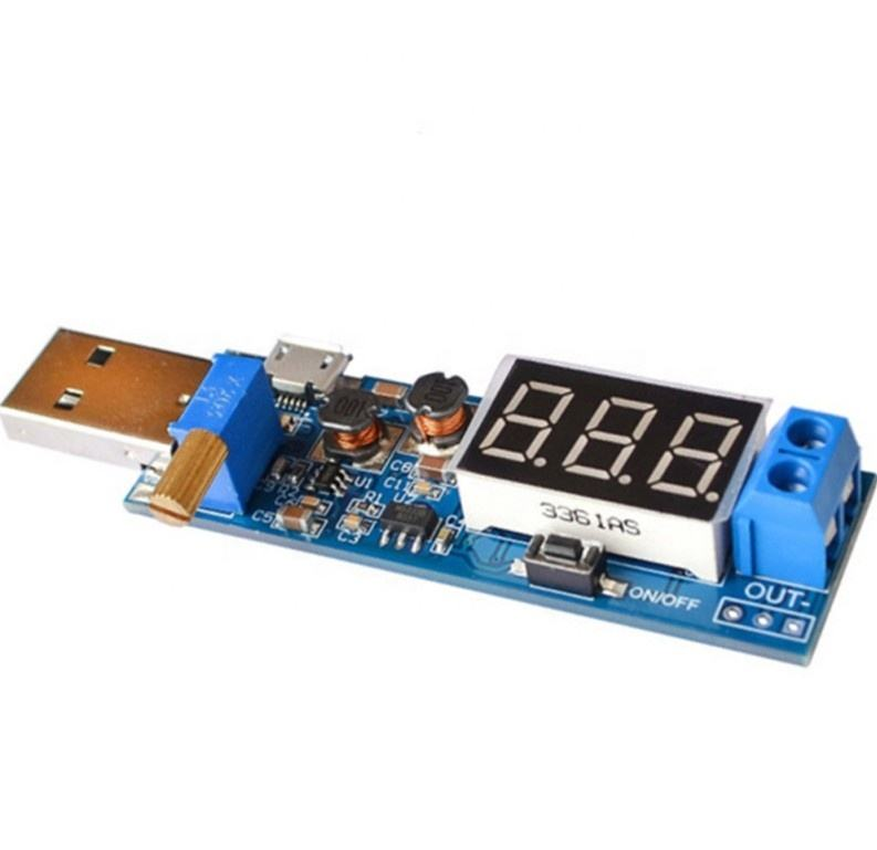 DC DC USB Step UP Down Adjustable Converter 5V to 3.3V 6V 7.5V 9V 12V 3W Power Supply Module 1.2-24V XY-UP