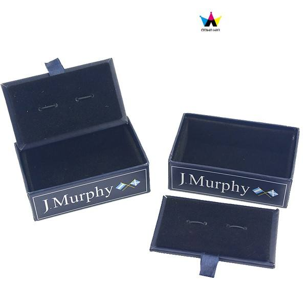 High Quality Leather Make Your Own Paper Cufflinks Box
