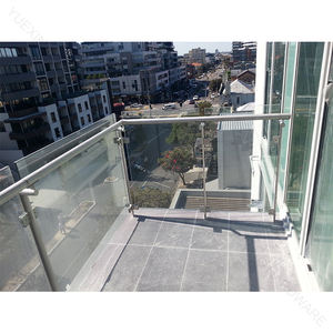 Stainless steel stair handrail glass balustrade glass railing with safety glass for outdoor