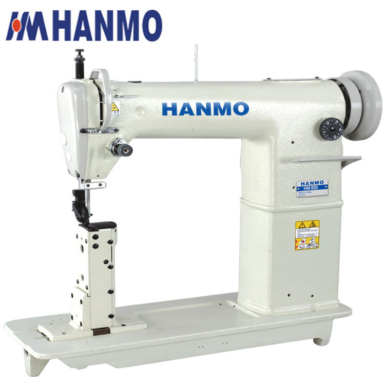 HM 820 Double Needle Post Bed Lockstitch Máy May Cho Giày Da