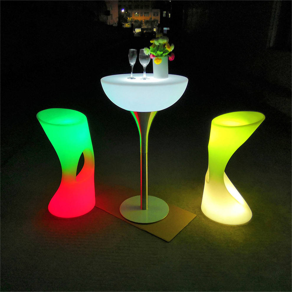 led high table led light up square table 3d led infinity mirror table
