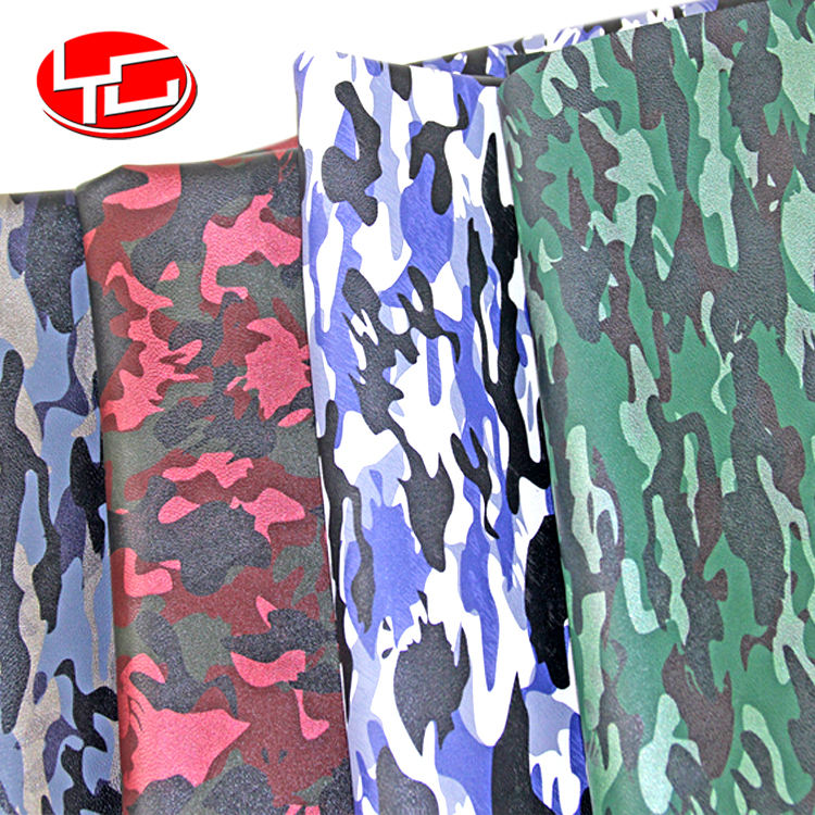 camouflage camo rexine microfiber vinyl faux price meter artificial leather roll fabric material for shoe bags making