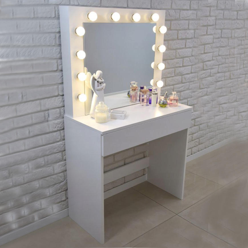 Bedroom Dressing Table Makeup Table Vanity Table With Lights and Mirror