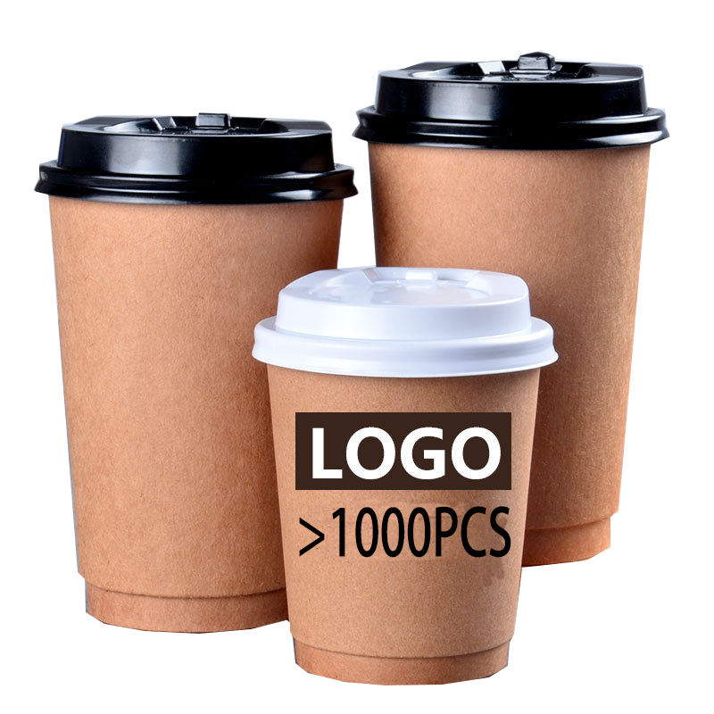 custom printed cheap disposable insulated double wall paper coffee cup