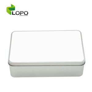 Factory direct sale sublimation blank metal tin box for customized heat press