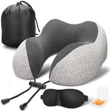 10% Discount Cooling U shaped Neck pillow Folding Personalized Neck Support Memory Foam Travel Pillow Rest