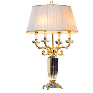 decorative home good modern fancy crystal candelabra table lamp