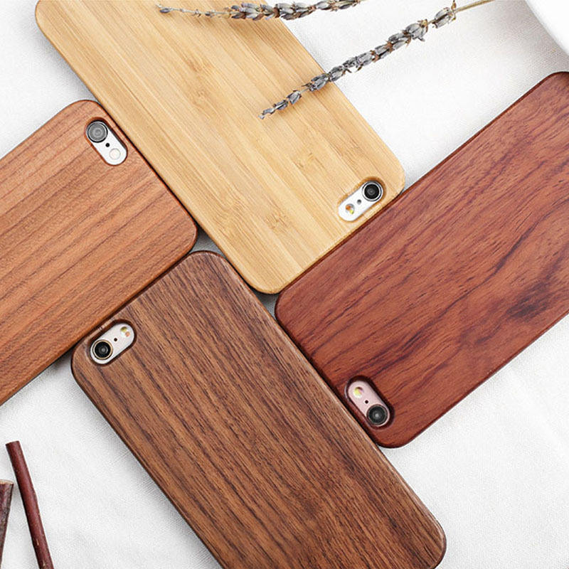 Sikai Plain Wood Mobile Phone Case For Iphone For Samsung Custom Blank Wood Phone Case